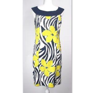 Kim Rogers Size 10 Sleeveless Flowered Dress